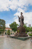 Ly Thai To statue in park near Sword lake in Hanoi, Vietnam. Royalty Free Stock Photo