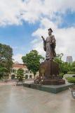Ly Thai To statue in park near Sword lake in Hanoi, Vietnam. Royalty Free Stock Photo