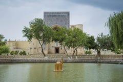 Lyabi-Khauz helhet, Bukhara arkivfoto