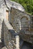 Lyadova,乌克兰,09-08-2018:对Lyadova修道院修道院细胞的看法,位于乌克兰的文尼察州地区 免版税库存图片