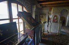 Lyadova,乌克兰,09-08-2018:Lyadova修道院的内部,位于乌克兰的文尼察州地区 免版税图库摄影