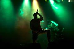 Lyapis Trubetskoy performing live at stadium. LVIV, UKRAINE - APRIL 06, 2014: Belarusian rock band Lyapis Trubetskoy performing live at stadium on April 06, 2014 Royalty Free Stock Photography