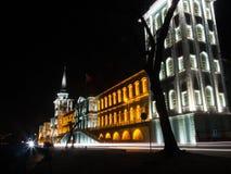Lycée militaire de Kuleli la nuit Images stock