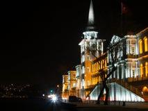 Lycée militaire de Kuleli la nuit Photographie stock