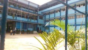 Lycée professionnel de l'information et de technologie de quatre planchers Photos libres de droits