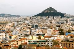Lycabettus Hill and Athens Stock Photos