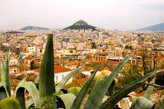 Lycabettus Hill and Athens Stock Photography