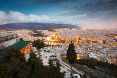 Lycabettus Hill in Athens Royalty Free Stock Image