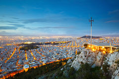 Lycabettus Hill in Athens Stock Images