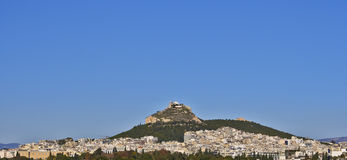Lycabettus hill and Athens cityscape Stock Image