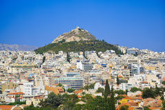 Lycabettus hill at Athens, Greece Royalty Free Stock Photos