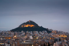 Lycabettus hill in Athens. Stock Images