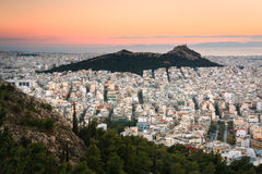 Lycabettus hill in Athens. Royalty Free Stock Photography