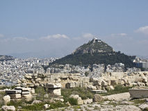 Lycabettus hill in the heart of Athens, Royalty Free Stock Photography