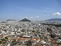 Lycabettus hill in the heart of Athens, Royalty Free Stock Photos