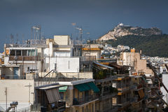 Lycabettus Hill. Stock Photo