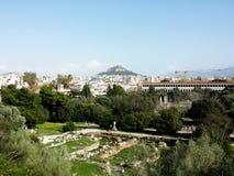 Lycabettus kulle, Aten, Grekland Royaltyfri Bild