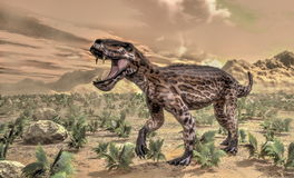 Lycaenops dinosaur - 3D render Royalty Free Stock Images
