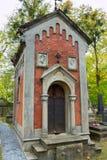 Lychakiv公墓的土窖 库存照片