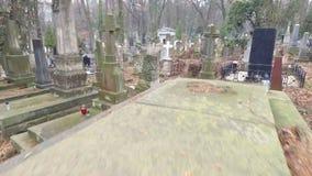 Lychakiv Cemetery Lviv stock video footage