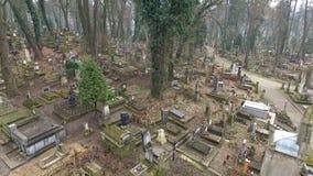 Lychakiv Cemetery Lviv stock video