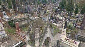 Lychakiv Cemetery Lviv stock footage