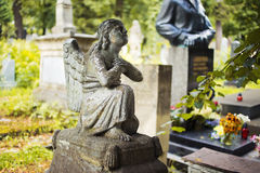 Lychakiv Cemetery in Lviv, Ukraine.  Tombstone Stock Images