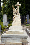 Lychakiv Cemetery in Lviv, Ukraine.  Tombstone Royalty Free Stock Image