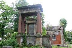 Lychakiv kyrkogård i Lviv Royaltyfri Foto