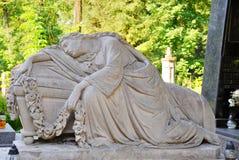 Lychakivskyj cemetery. Ancient Lychakivskyj cemetery view (Lviv City, Ukraine stock images
