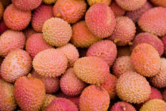 Lychee. Some lychees in a box Stock Image