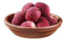 Lychee. In dish Royalty Free Stock Image