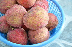 Lychee in the basket Royalty Free Stock Photos