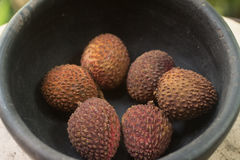 Lychee on the bowl. Stock Photography