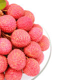 Lychee. Delicious Lychee on white background Stock Images