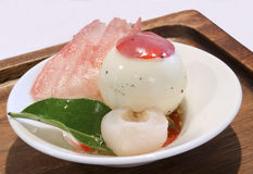 Lychee dessert Royalty Free Stock Photo