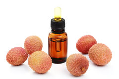 Lychee essential oil Royalty Free Stock Images