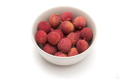 Lychee fruit in bowl Royalty Free Stock Image