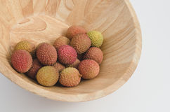Lychee fruit in a bowl Royalty Free Stock Images