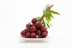 Lychee fruit. Royalty Free Stock Photo