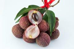 Lychee fruit. Fresh lychee fruit ready to eat Royalty Free Stock Photo