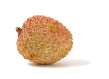 Lychee fruit isolated on white background. Stock Photos