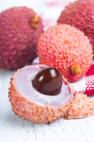 Lychee fruit (Litchi chinensis) Stock Images
