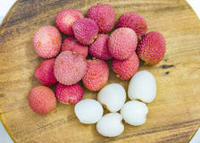 Lychee fruit, lychee or Chinese or Chinese plum. Royalty Free Stock Image
