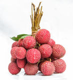 Lychee. The lychee fruit with white back ground Stock Photo