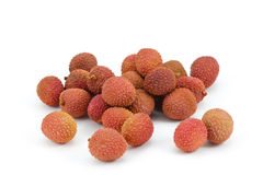 Lychee fruit on white background,  Stock Images