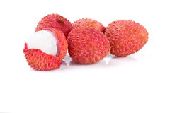 Lychee Fruit  on white Royalty Free Stock Photos