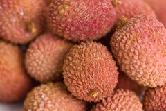 Lychee fruits. Some tasty Lychee fruits. Closeup with selective focus Stock Photography