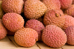 Lychee fruits. Some tasty Lychee fruits. Closeup with selective focus Royalty Free Stock Image