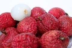 Lychee fruits Stock Images